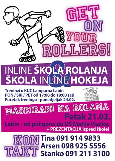 "INLINE škola rolanja & hokeja u Klubu mladih ""Club 21"""