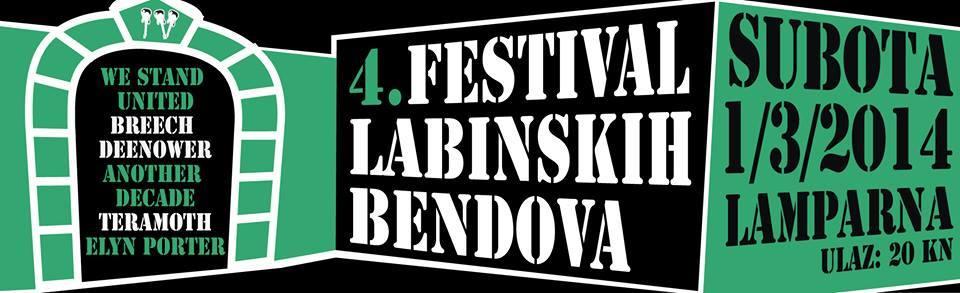 U subotu 4. Festival Labinskih Bendova @ KuC Lamparna