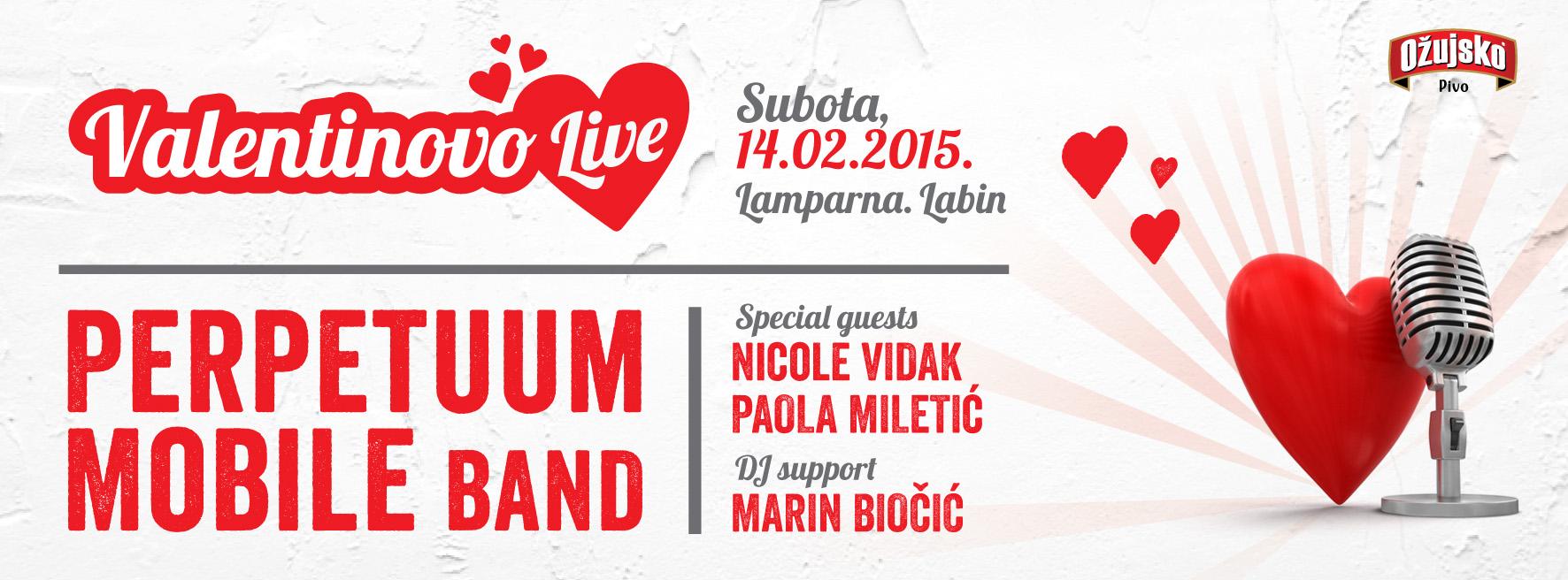 Valentinovo u Labinu LIVE, KuC Lamparna 14.02.2015.