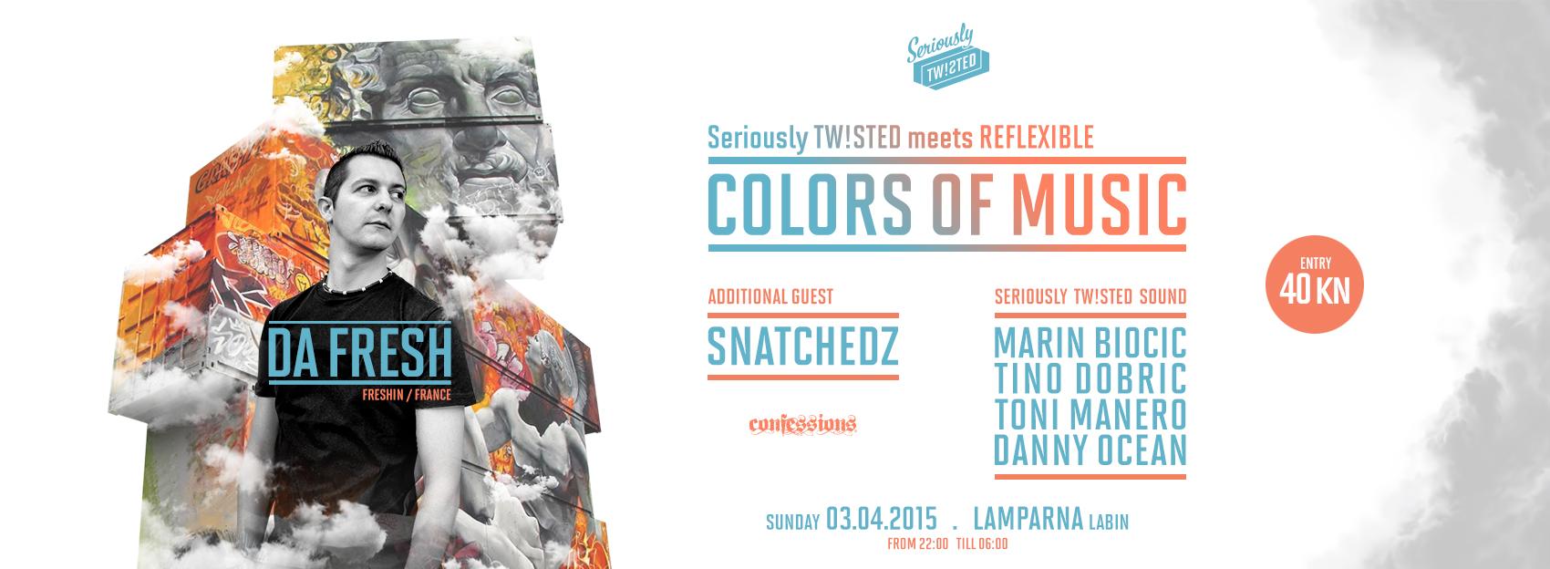 COLORS OF MUSIC w/ DA FRESH @ KuC Lamparna, Labin 03.04.2015.