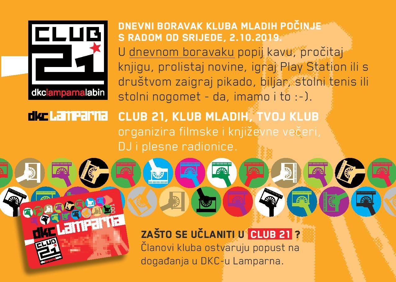 Klub mladih – KLUB 21