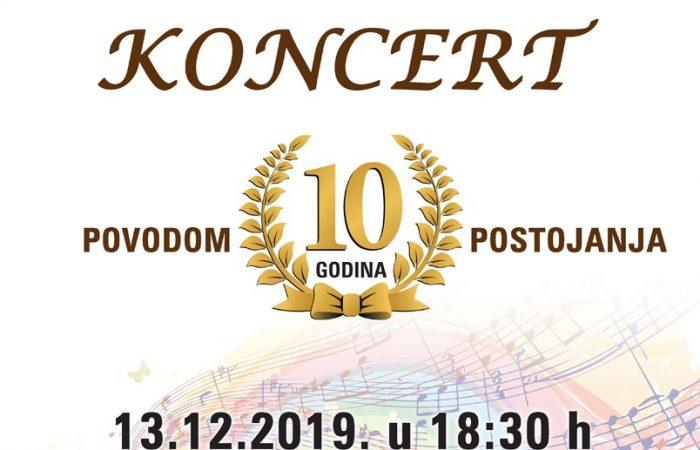 Koncert povodom 10 godina postojanja zbora NEO