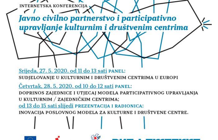 ZoomKonferencija: Participativno upravljanje društvenim centrima