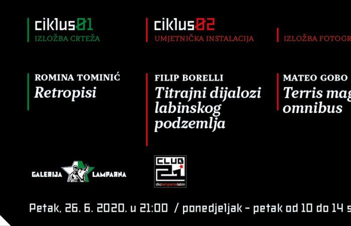 Nova tripartitna izložba mladih autora u DKC-u Lamparna