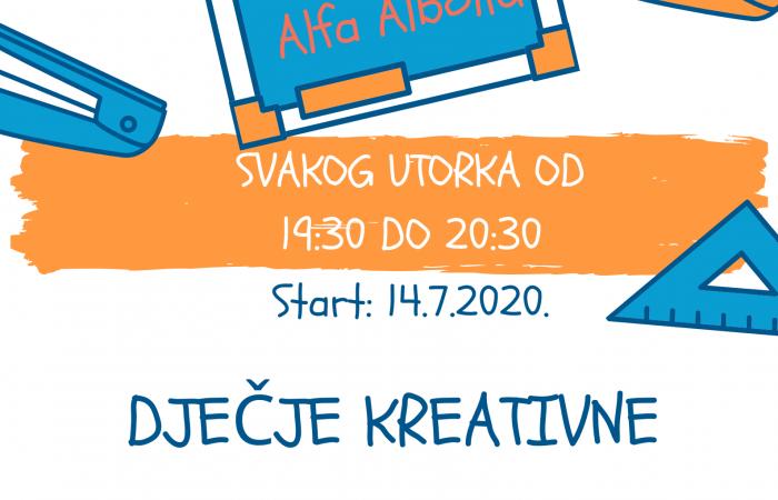 Alfa Albona započinje s kreativnim ljetom za najmlađe!